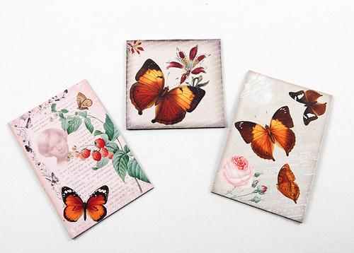 Magnetky - motýli