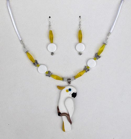 Náhrdelník - Kakadu žlutočečelatý
