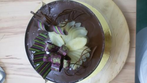 Dort čokoládovo-hrušková slast