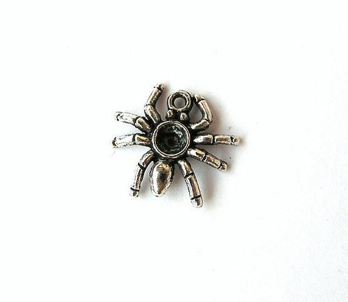 Přívěsek - pavouk, 15 mm - 1 kus