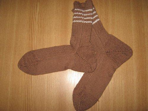 Hnědé ponožky