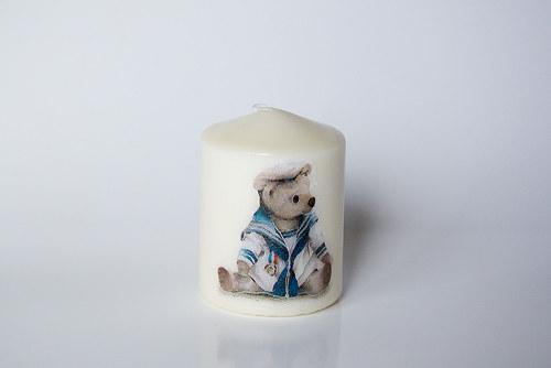 Svíčka s medvídkem
