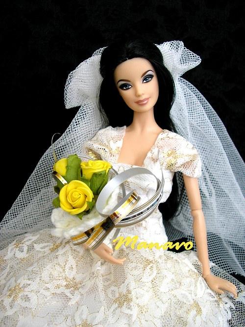 Svatební kytička pro Barbie VI.