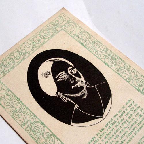 B. NĚMCOVÁ zrakový vjem - pohlednice č. 1349