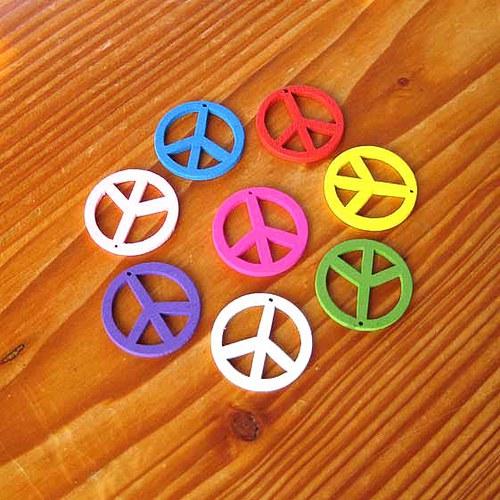 Dřevěný Hippies - Modrý