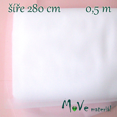 svatební tyl jemný bílý 50 cm/ š280 cm
