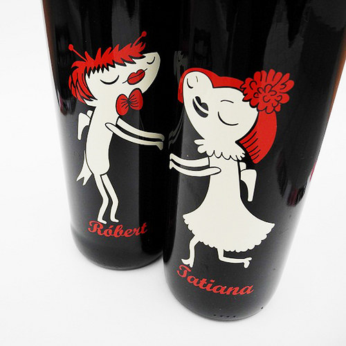 etiketa na svatební víno Broučci
