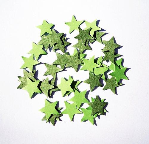 Hvězdičky zelené (40 ks)