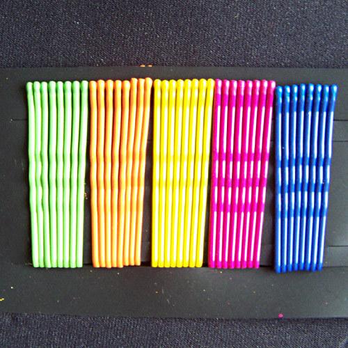 kovové sponky (pérka) barevné MIX 10 ks