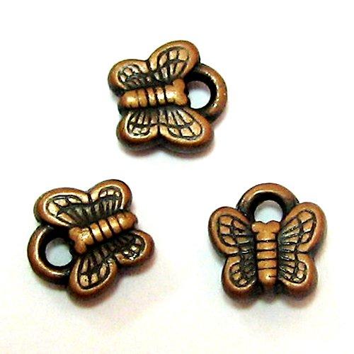 Motýlkový přívěs - staroměď - 2 ks
