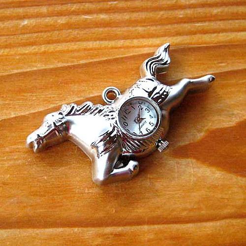 Kapesní Hodinky - Letící Kůň - Stříbrný
