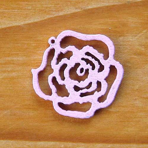 Dřevěná Růžička - Růžová
