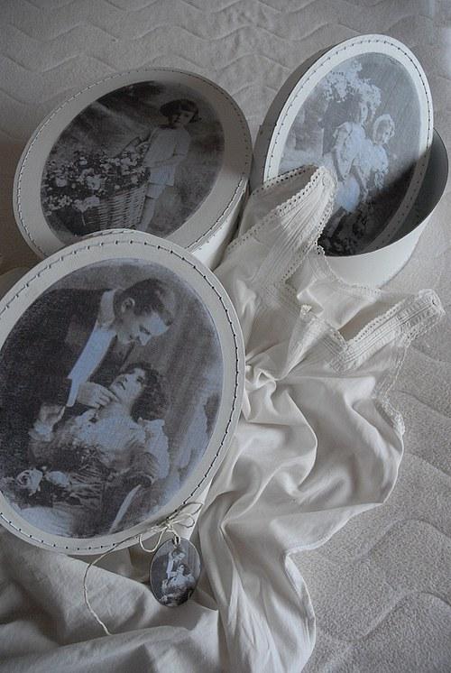 Bílá krabice svatební - menší