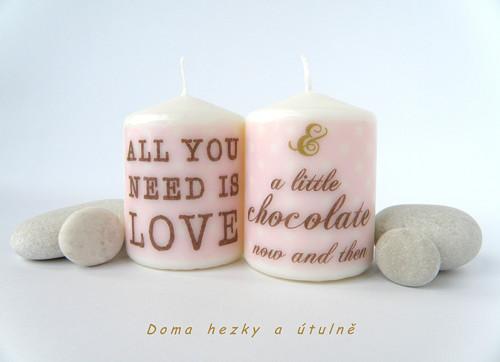Sada svíček All You Need Is Love