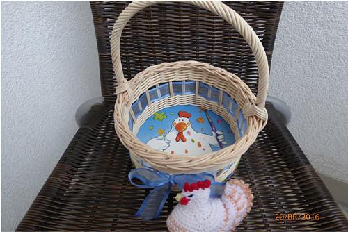 Košíček na 10 vajíček - slepička