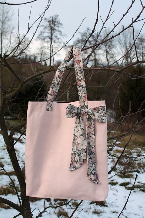 Romantická látková taška/kabelka s mašlí