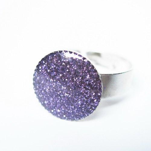 Prstýnek třpytivý fialový