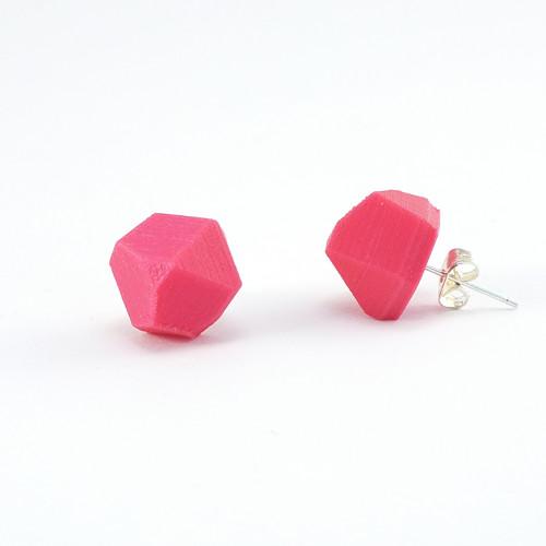 Náušnice krystal magenta