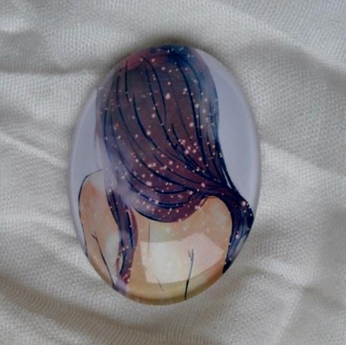 skleněný kabošon