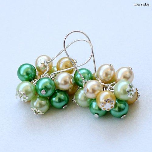 Citróny a limetky - náušnice a náhrdelník