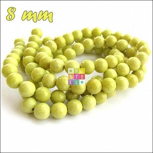(0665) Mustard Stone, 8 mm - 1 ks