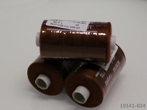 19141-B24 Nitě polyesterové 40/2 1000y HNĚDÁ TMAVĚ