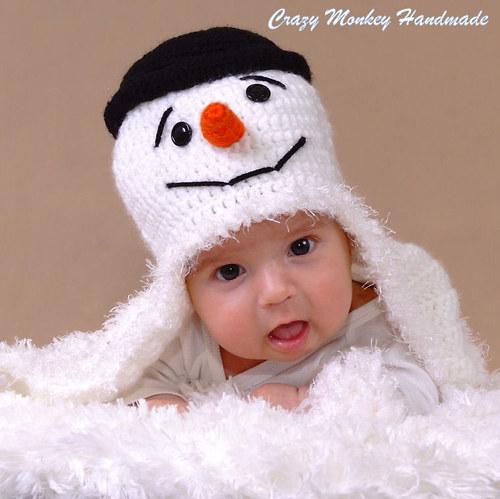 Snehuliaková čapica - NÁVOD V ČEŠTINE