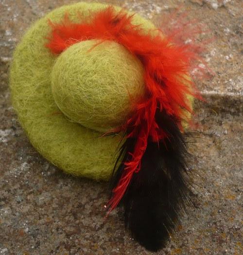 Klobouček - zelený hrášek