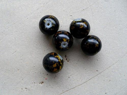 kuličky kropenaté 12mm - 5ks