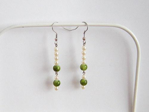 Zelené perličkové 2