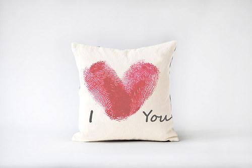 Polštář I love you - s výplní