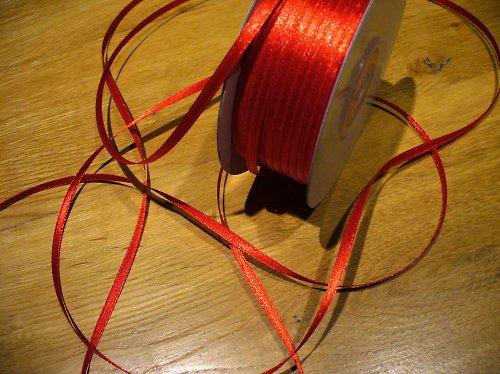 stužka satén červená 3mm