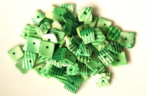 Mušle - zelené čtverečky 35g