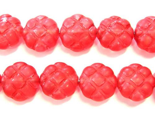0300937/Mačkané čtyřlístky červené mat, 10 ks