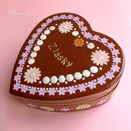 Perníkové srdce z pouti - krabička