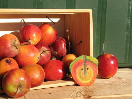 Brož-knoflík   Apple