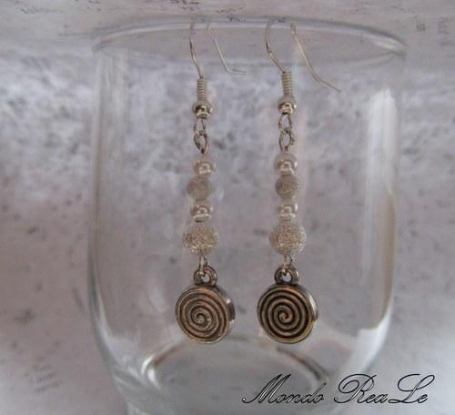 Náušnice -  stříbrné perličky