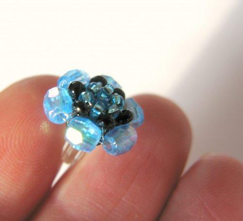 Náušničky modré