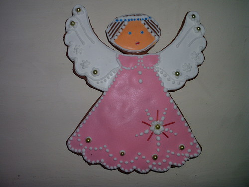 Růžový anděl