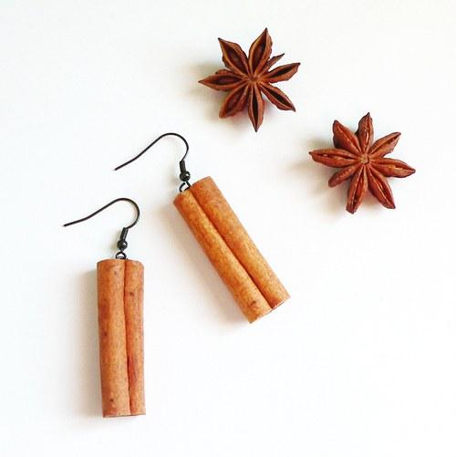 Voňavé náušnice ze skořice