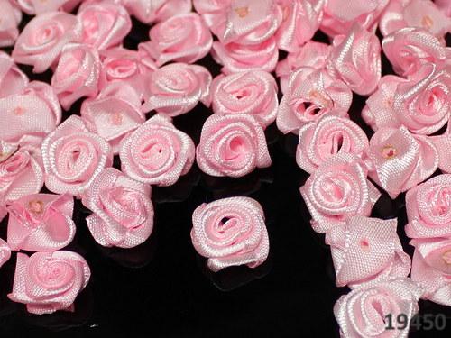 19450  Aplikace růžička růžová saténová bal. 10ks