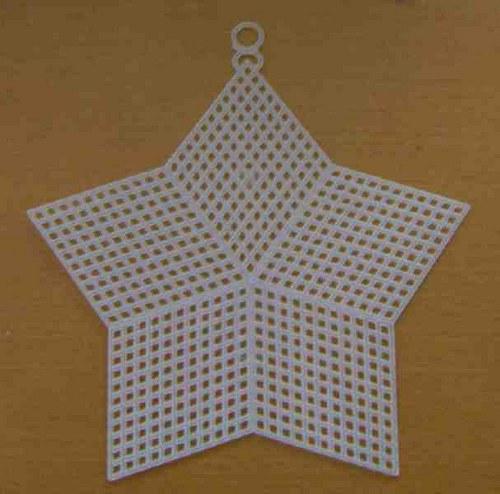 Plastová kanava - hvězda 13cm