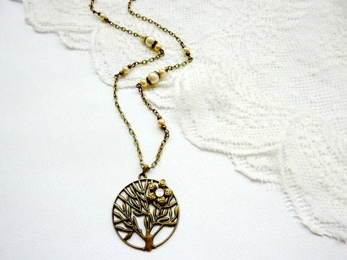 Náušnice + řetízek Strom života - AKCE!!!