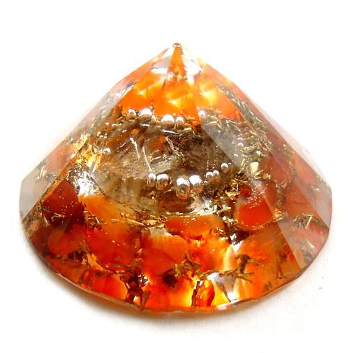 Orgonit diamant na detoxikaci, čistou čakru a mysl