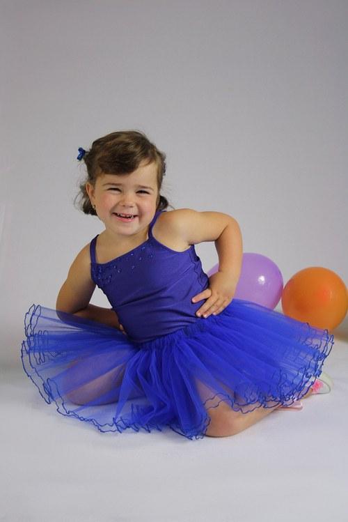 Baletní tylová sukýnka modrá