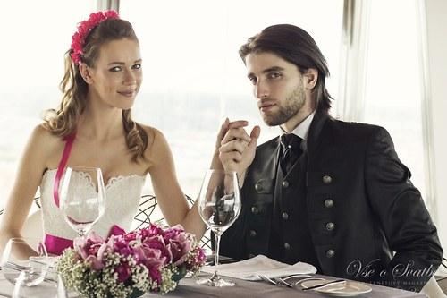 Svatební věneček Fuchsia world