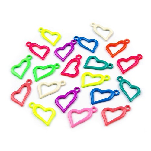 Přívěsek kovové srdce - 1 ks