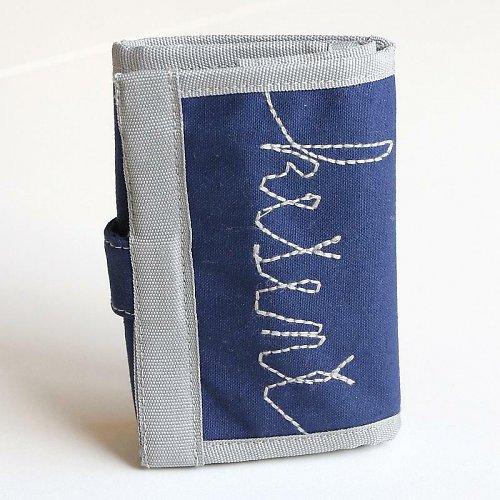 Temně modrá kešeně - mini peněženka - SLEVA