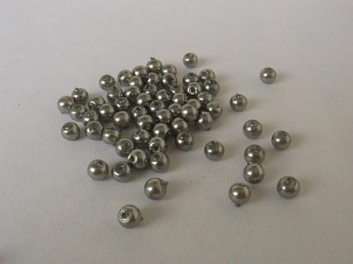 Vosková perla - stříbrná 3 mm / 30 ks