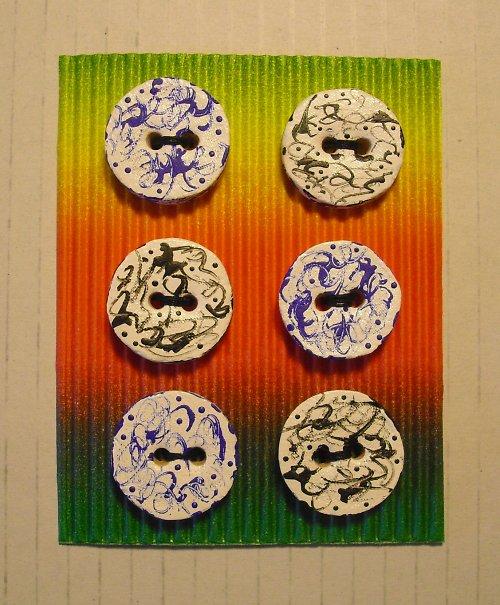 Barevné keramické knoflíky